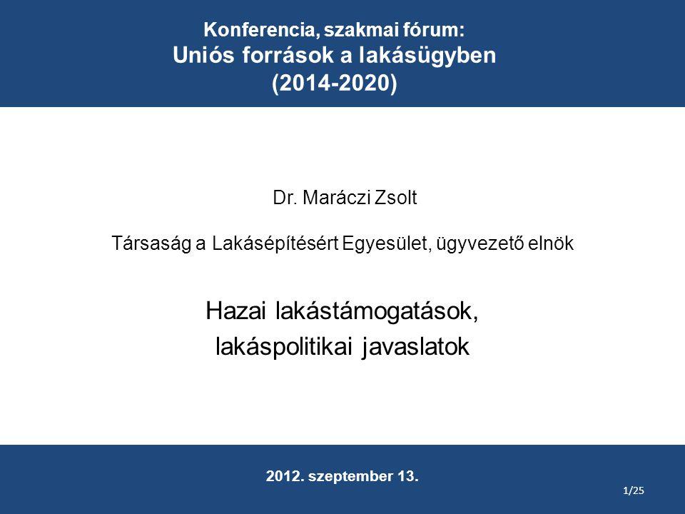 Dr. Maráczi Zsolt Társaság a Lakásépítésért Egyesület, ügyvezető elnök