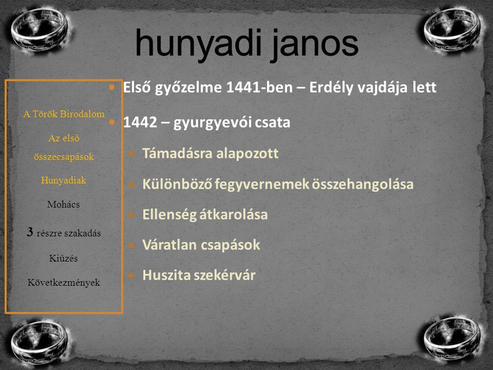hunyadi janos Első győzelme 1441-ben – Erdély vajdája lett