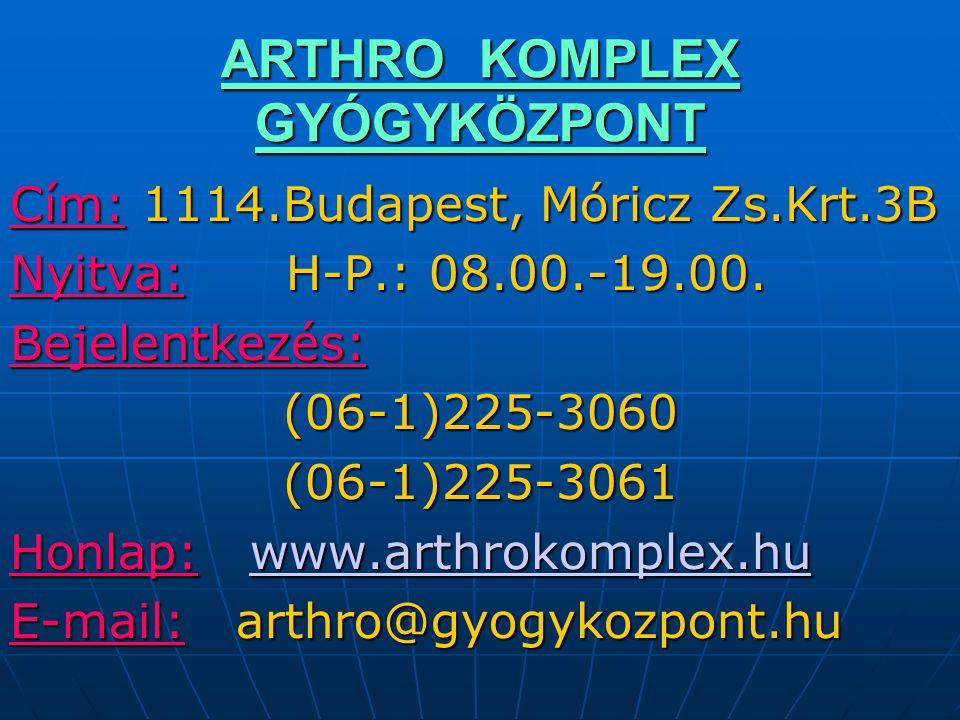 ARTHRO KOMPLEX GYÓGYKÖZPONT