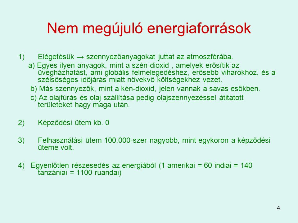 Nem megújuló energiaforrások
