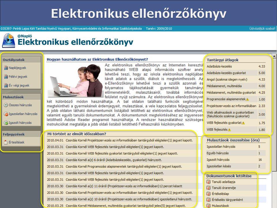 Elektronikus ellenőrzőkönyv