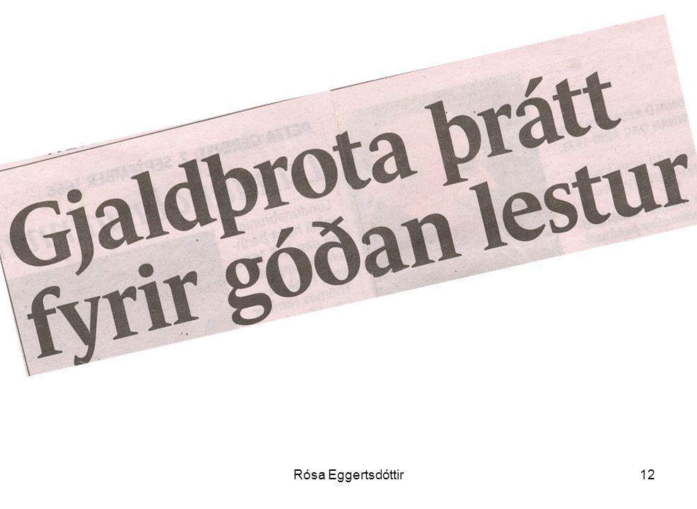 Rósa Eggertsdóttir