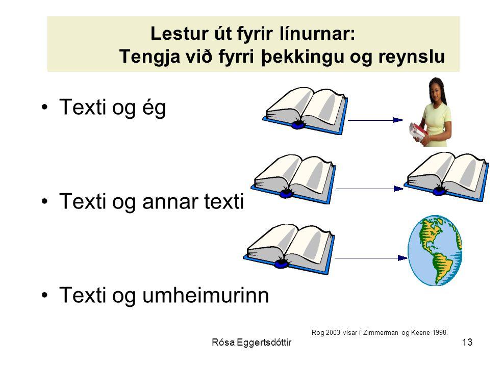 Lestur út fyrir línurnar: Tengja við fyrri þekkingu og reynslu