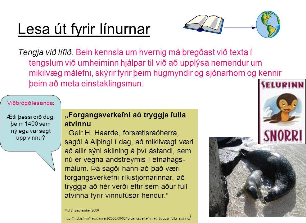 Ætli þessi orð dugi þeim 1400 sem nýlega var sagt upp vinnu