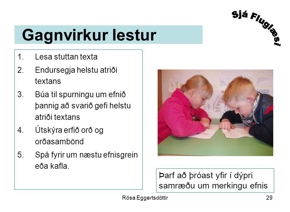 Gagnvirkur lestur Sjá Fluglæsi