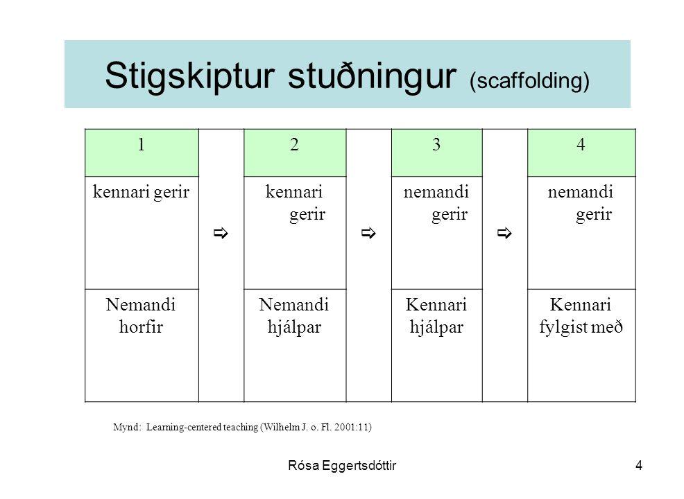 Stigskiptur stuðningur (scaffolding)