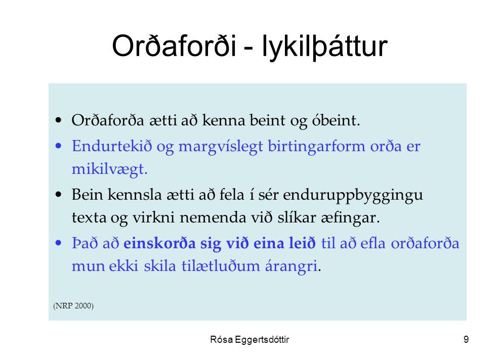 Orðaforði - lykilþáttur