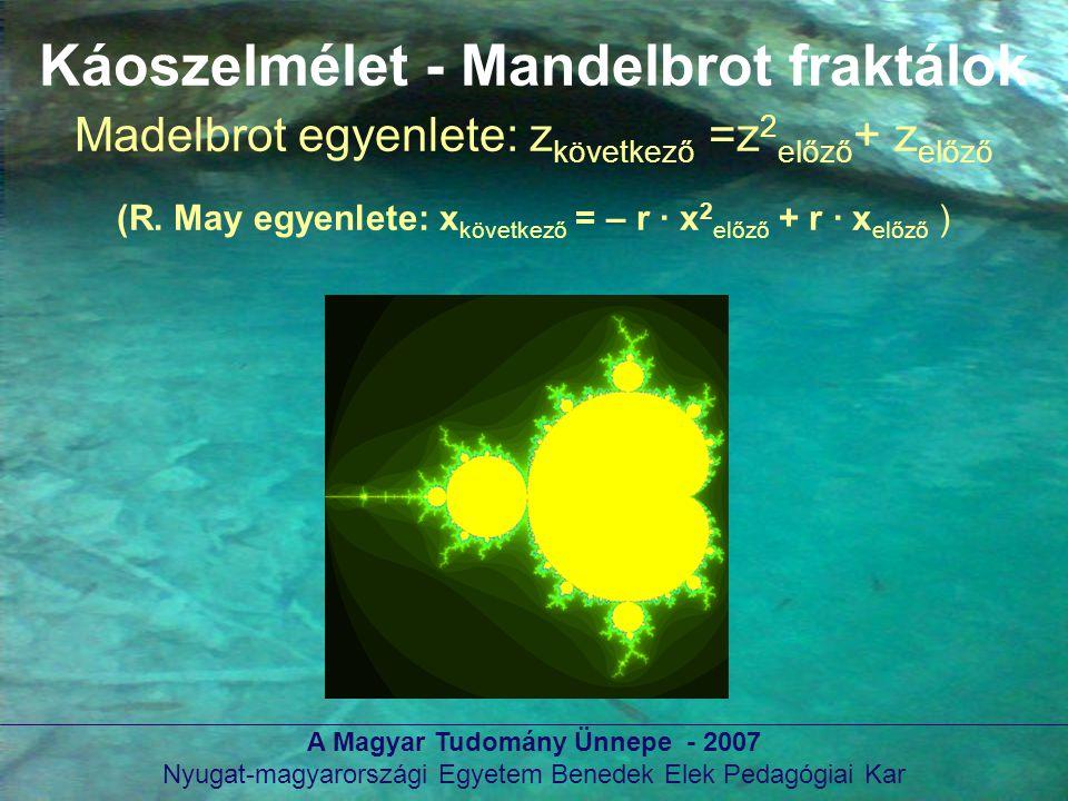 Káoszelmélet - Mandelbrot fraktálok