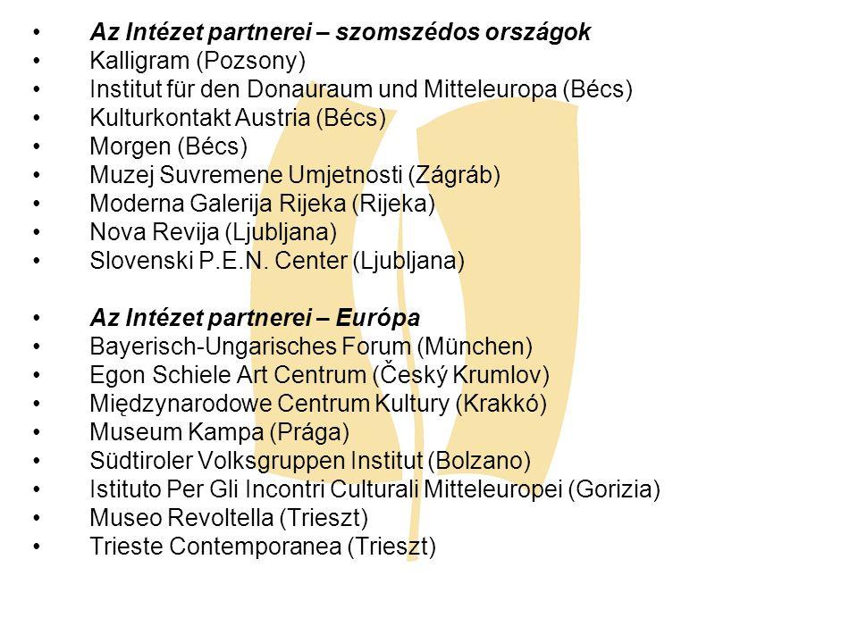 Az Intézet partnerei – szomszédos országok
