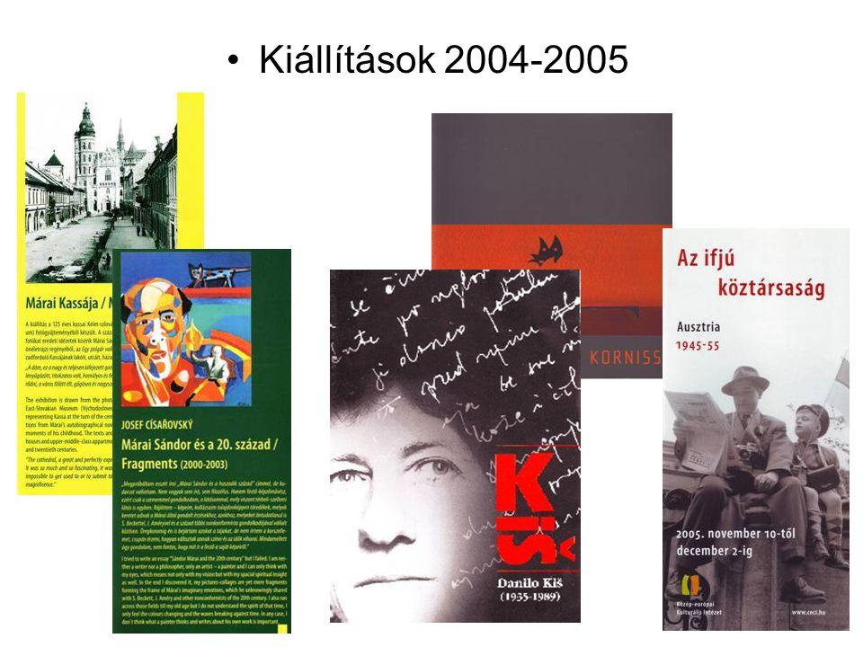 Kiállítások 2004-2005