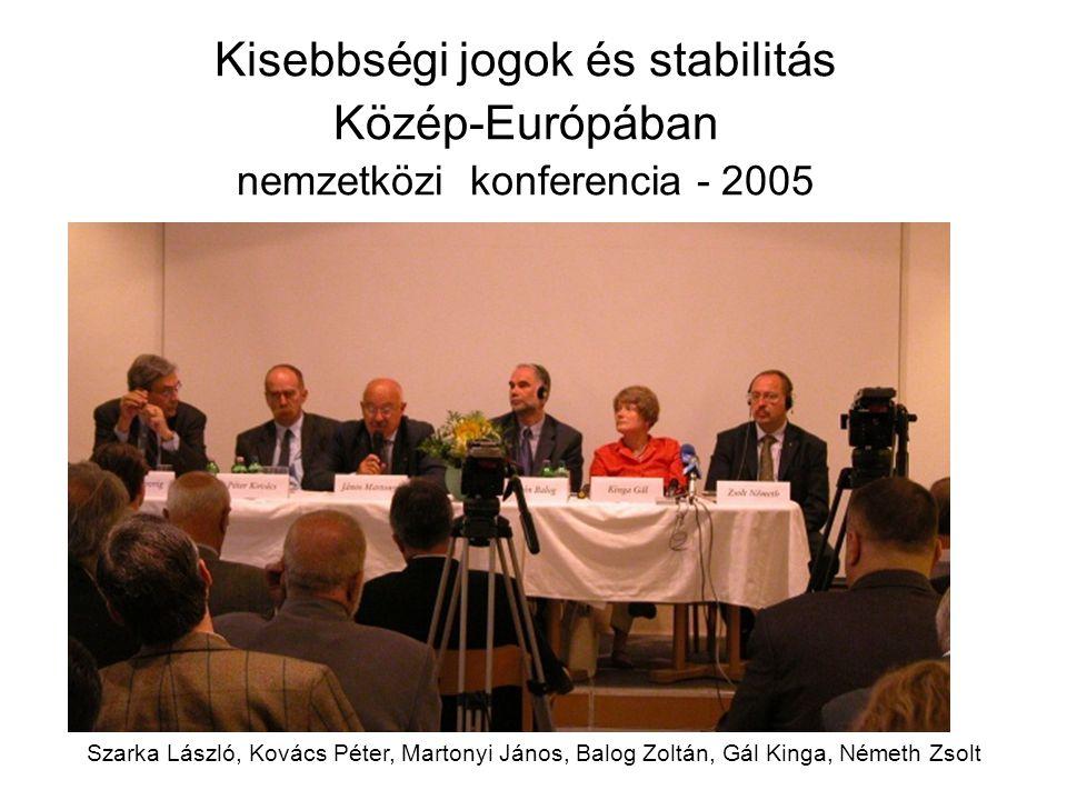 Kisebbségi jogok és stabilitás Közép-Európában