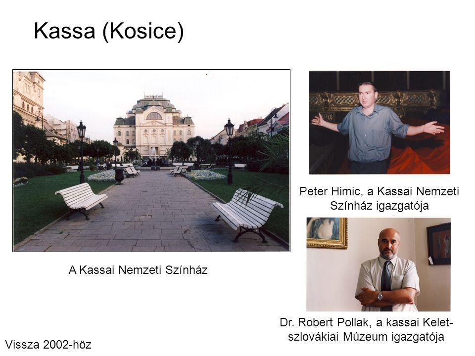 Kassa (Kosice) Peter Himic, a Kassai Nemzeti Színház igazgatója