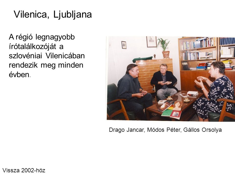 Drago Jancar, Módos Péter, Gállos Orsolya
