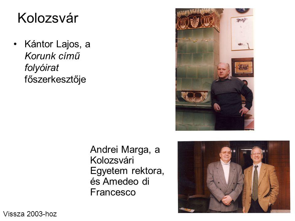 Kolozsvár Kántor Lajos, a Korunk című folyóirat főszerkesztője