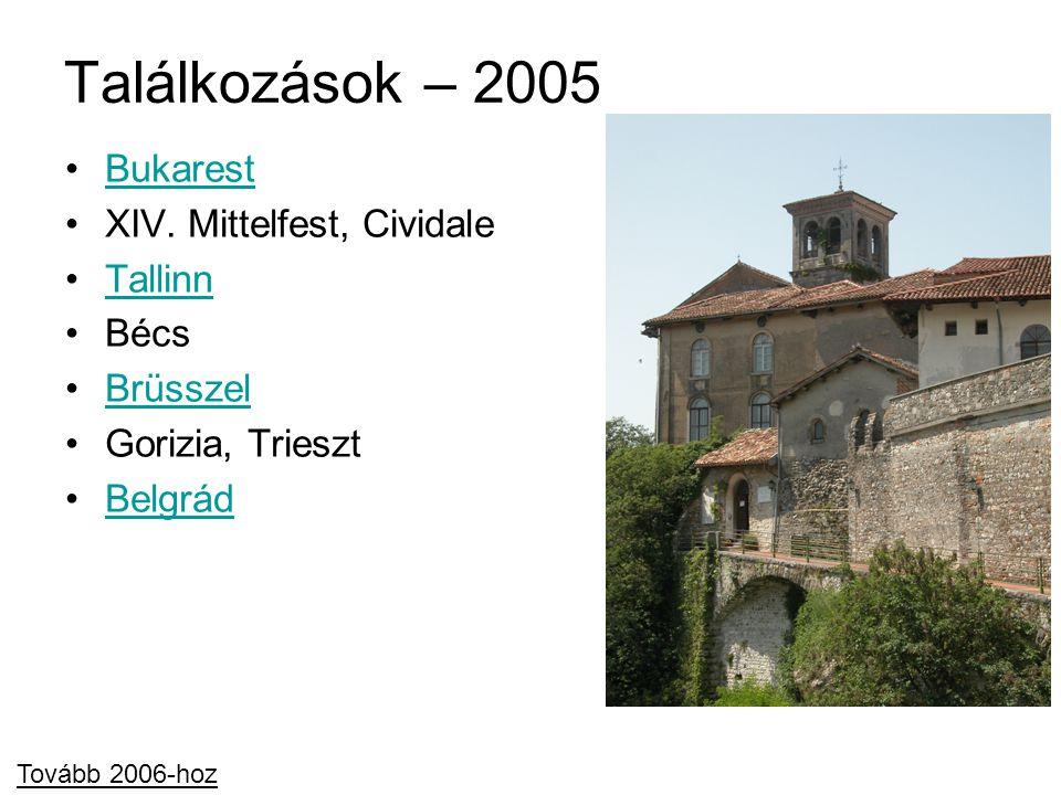 Találkozások – 2005 Bukarest XIV. Mittelfest, Cividale Tallinn Bécs