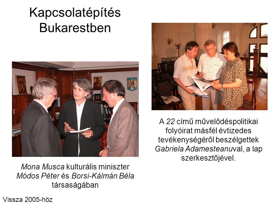 Kapcsolatépítés Bukarestben