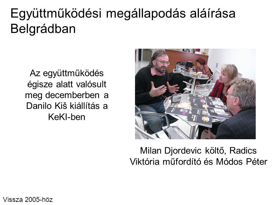 Együttműködési megállapodás aláírása Belgrádban