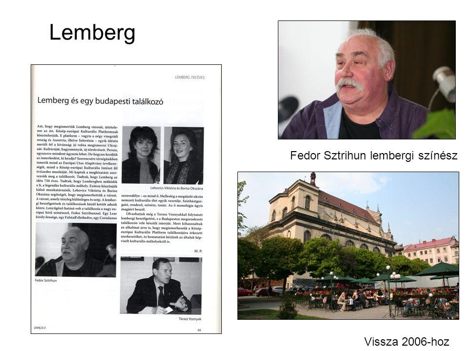 Lemberg Fedor Sztrihun lembergi színész Vissza 2006-hoz