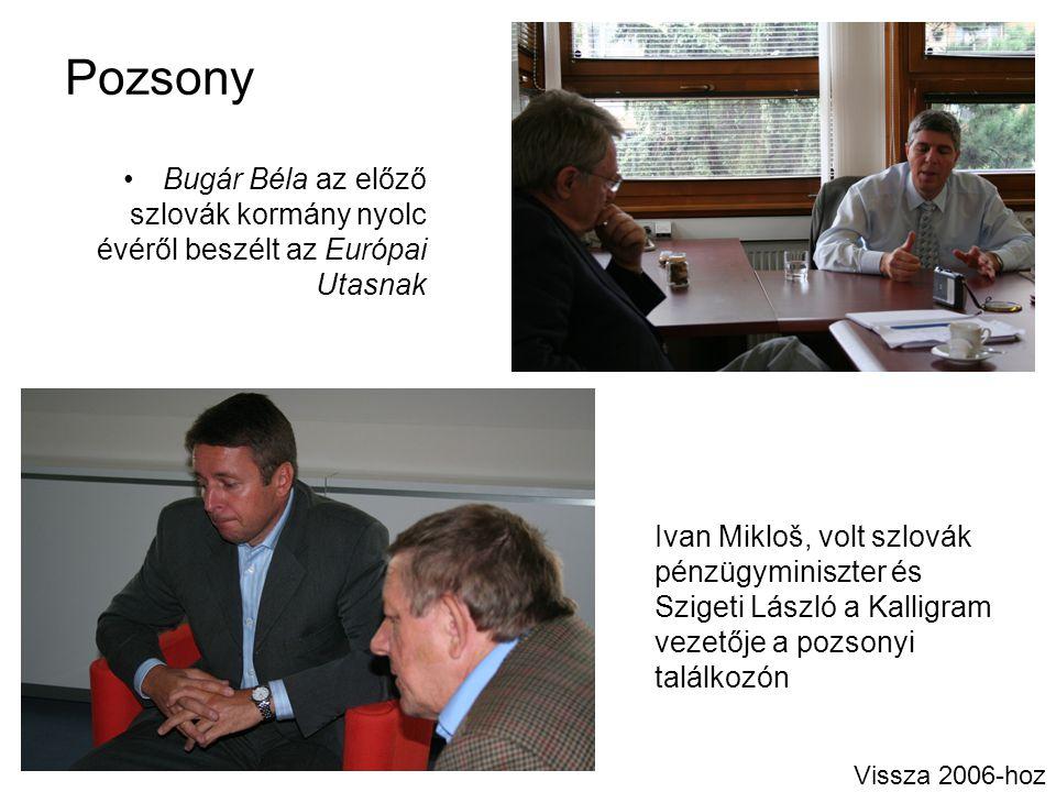 Pozsony Bugár Béla az előző szlovák kormány nyolc évéről beszélt az Európai Utasnak.