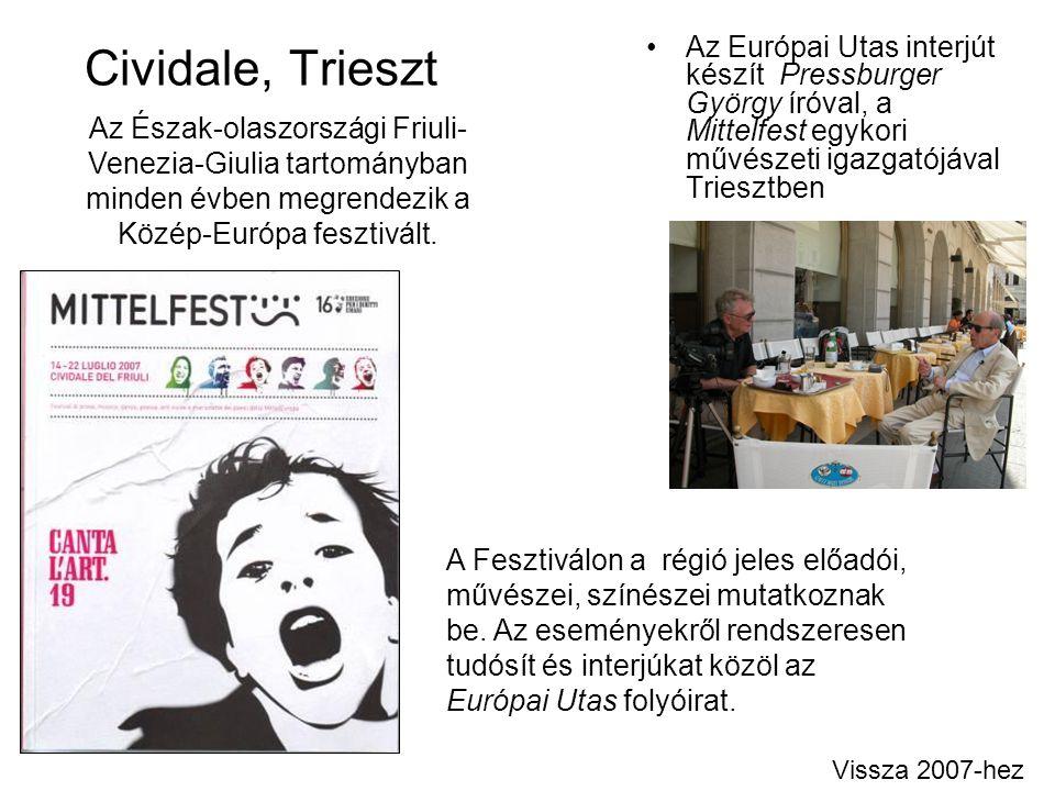 Cividale, Trieszt Az Európai Utas interjút készít Pressburger György íróval, a Mittelfest egykori művészeti igazgatójával Triesztben.