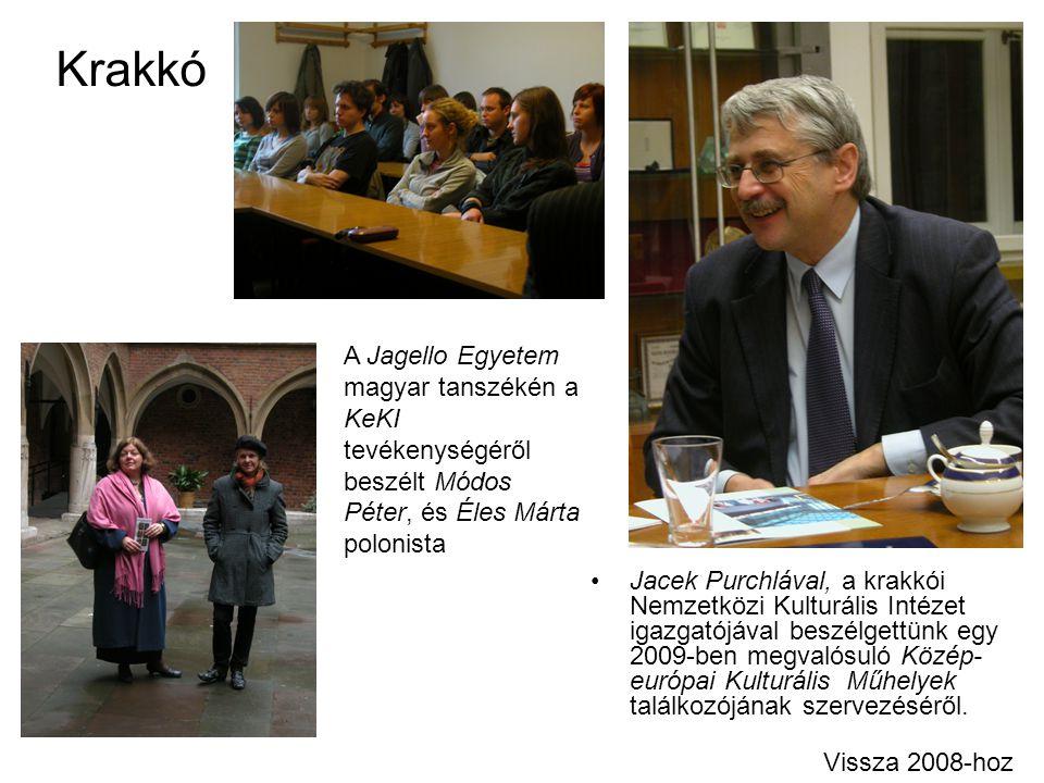 Krakkó A Jagello Egyetem magyar tanszékén a KeKI tevékenységéről beszélt Módos Péter, és Éles Márta polonista.
