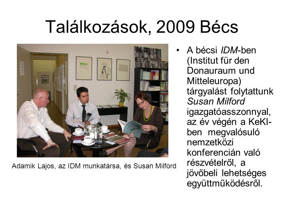 Adamik Lajos, az IDM munkatársa, és Susan Milford