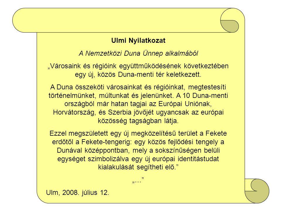 A Nemzetközi Duna Ünnep alkalmából