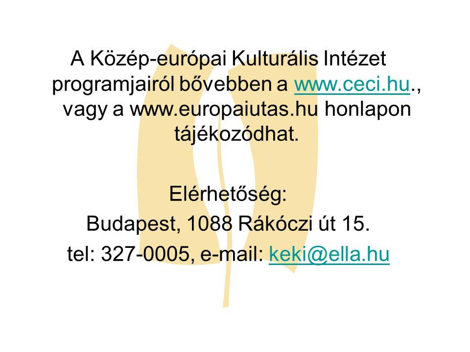 tel: 327-0005, e-mail: keki@ella.hu