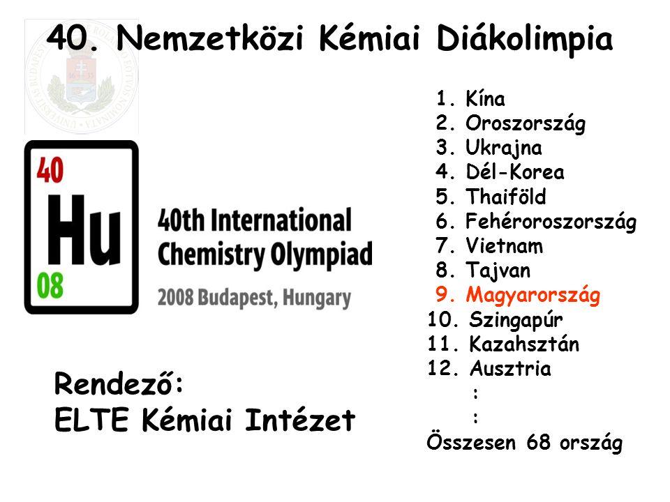 40. Nemzetközi Kémiai Diákolimpia