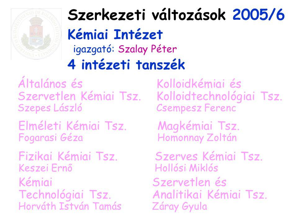 Szerkezeti változások 2005/6