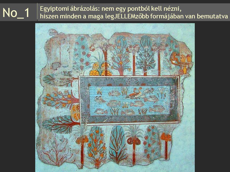 No_1 Egyiptomi ábrázolás: nem egy pontból kell nézni,