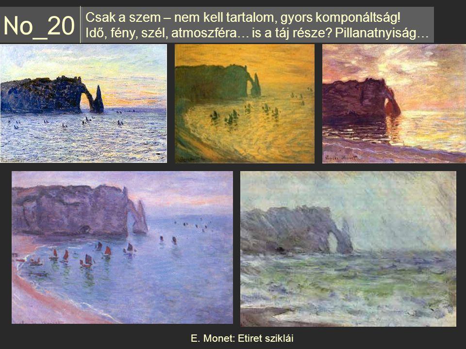 E. Monet: Etiret sziklái