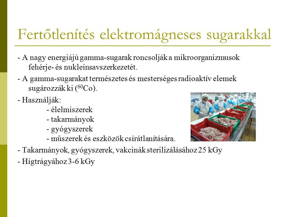 Fertőtlenítés elektromágneses sugarakkal