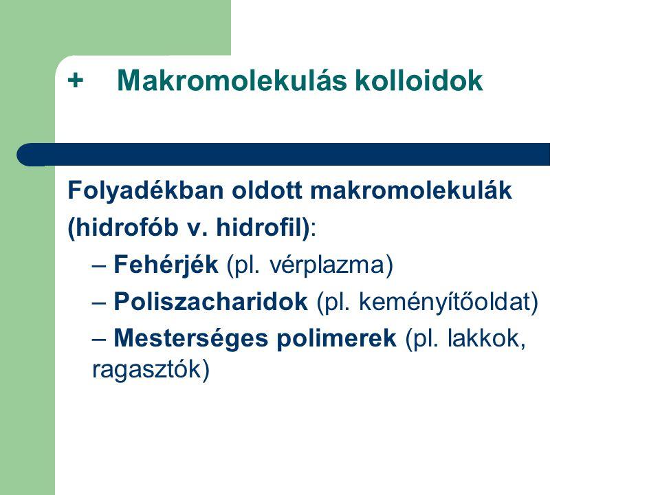 + Makromolekulás kolloidok