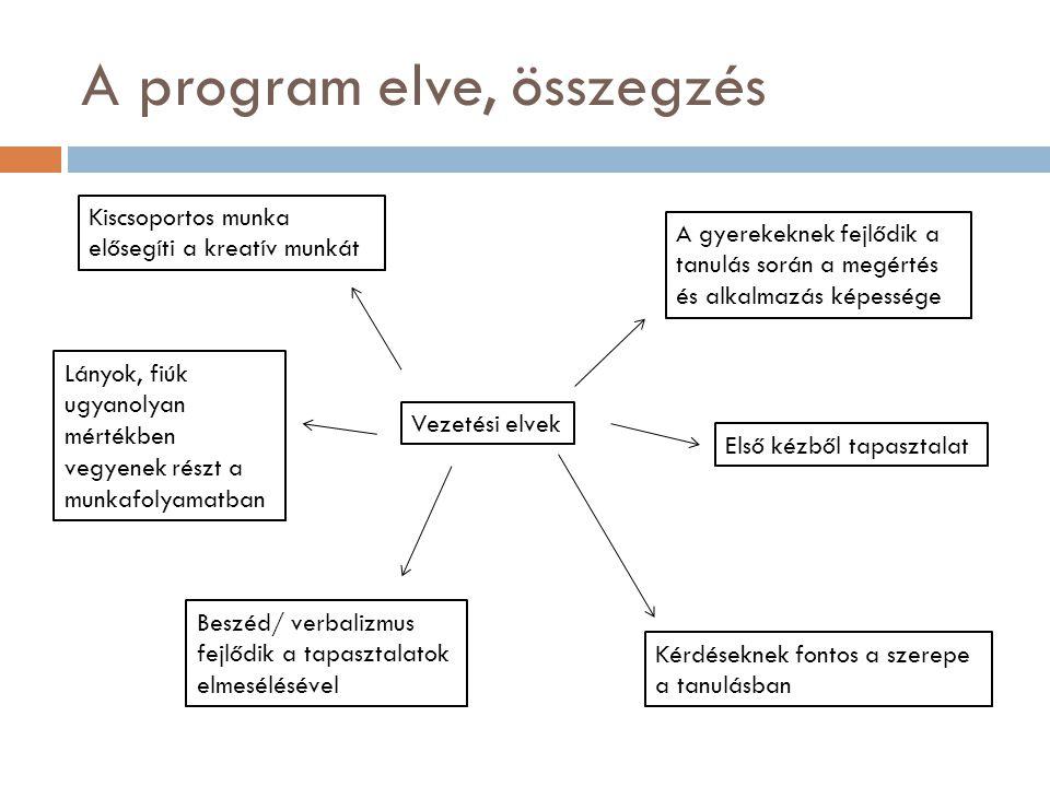 A program elve, összegzés