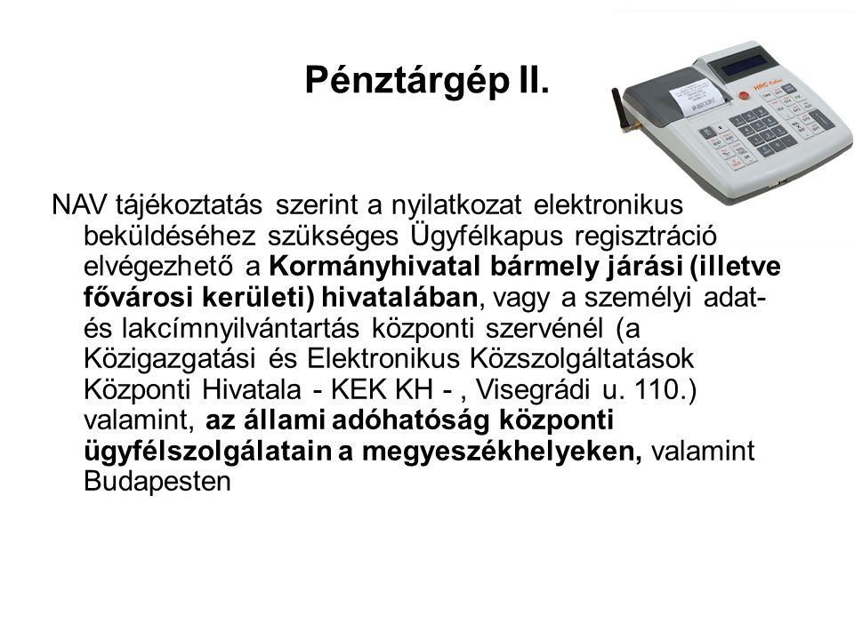 Pénztárgép II.