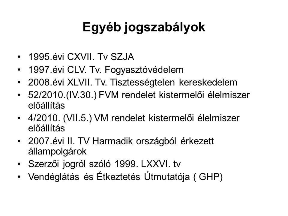 Egyéb jogszabályok 1995.évi CXVII. Tv SZJA