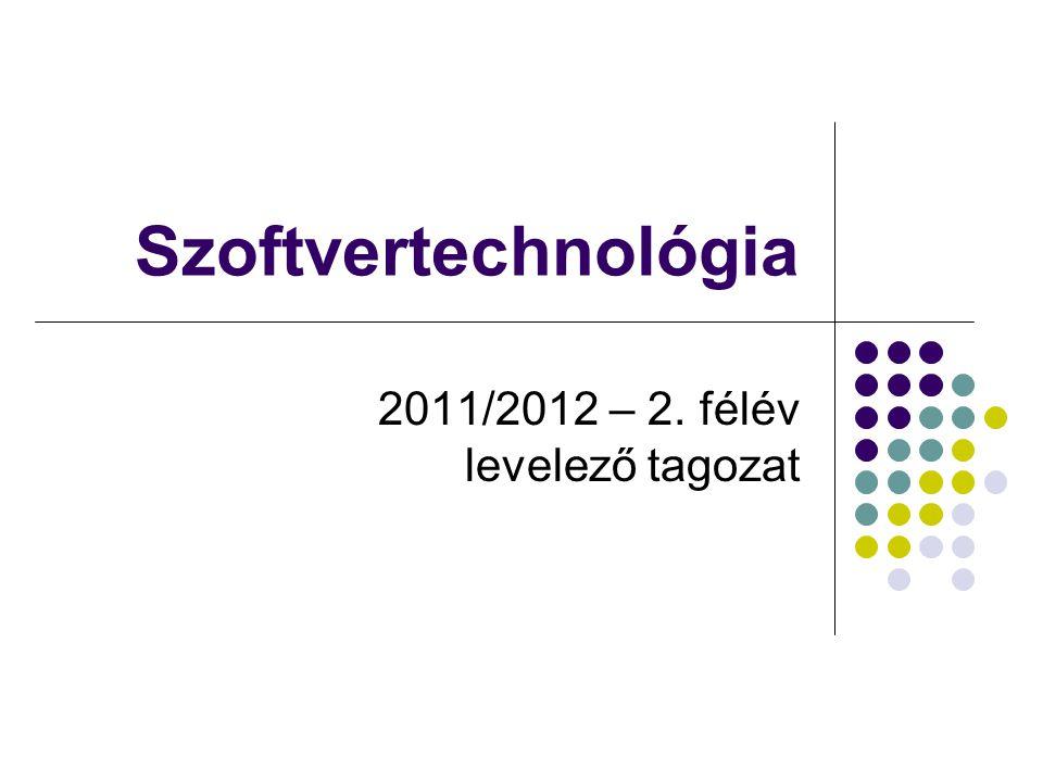 2011/2012 – 2. félév levelező tagozat