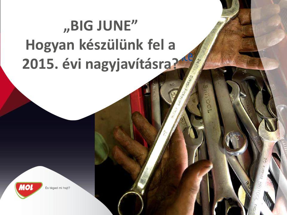 """""""BIG JUNE Hogyan készülünk fel a 2015. évi nagyjavításra"""