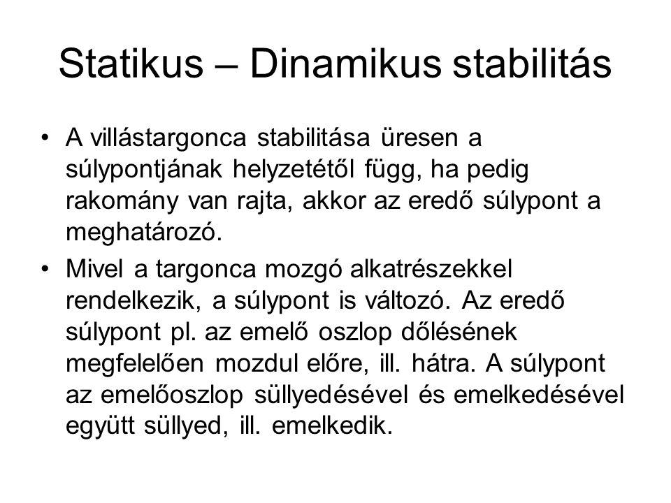 Statikus – Dinamikus stabilitás