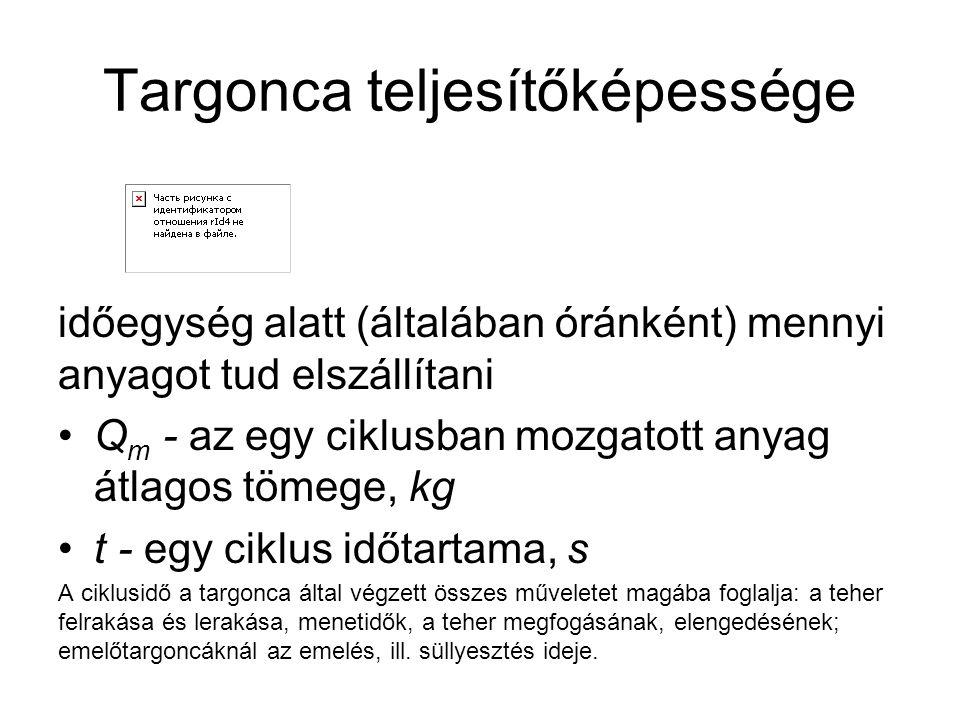 Targonca teljesítőképessége