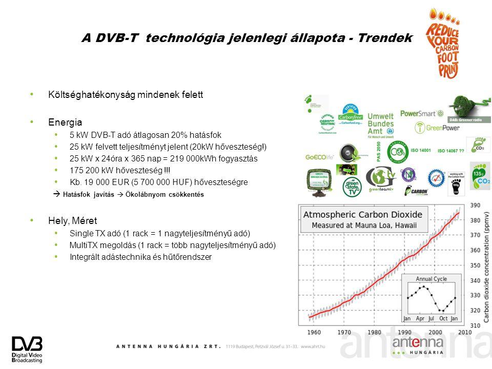 A DVB-T technológia jelenlegi állapota - Trendek