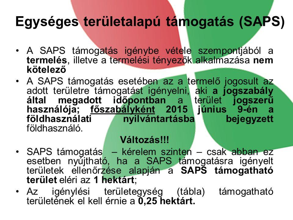Egységes területalapú támogatás (SAPS)