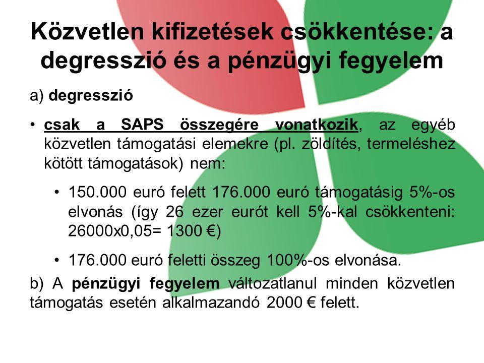 Közvetlen kifizetések csökkentése: a degresszió és a pénzügyi fegyelem
