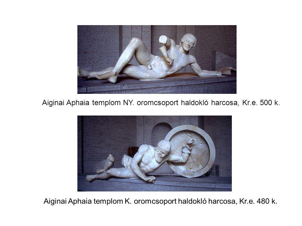 Aiginai Aphaia templom NY. oromcsoport haldokló harcosa, Kr.e. 500 k.