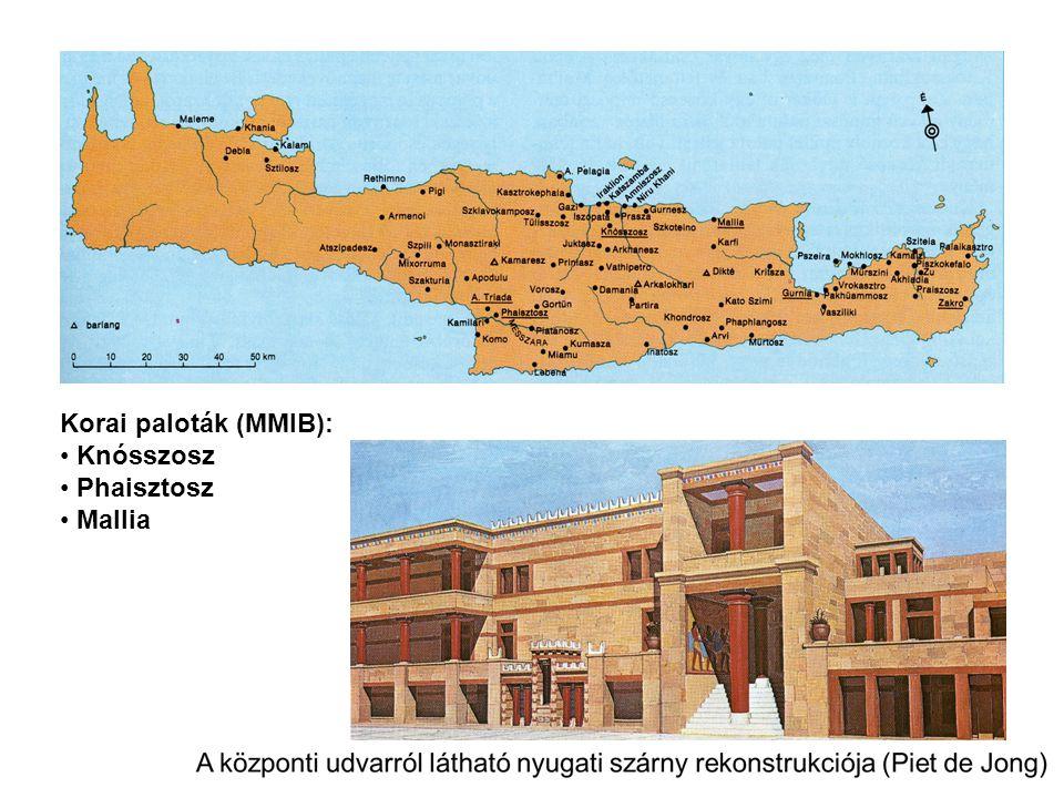 Korai paloták (MMIB): Knósszosz Phaisztosz Mallia