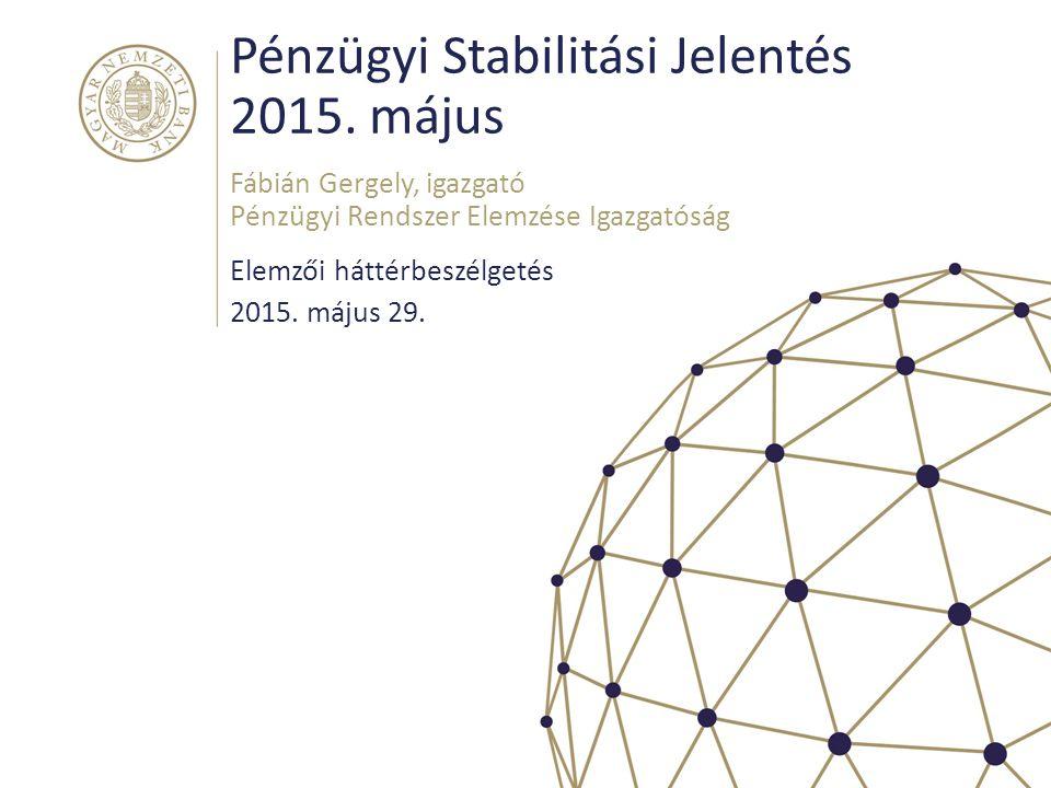 Pénzügyi Stabilitási Jelentés 2015. május