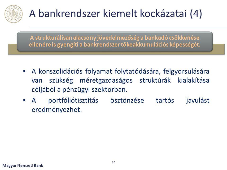 A bankrendszer kiemelt kockázatai (4)