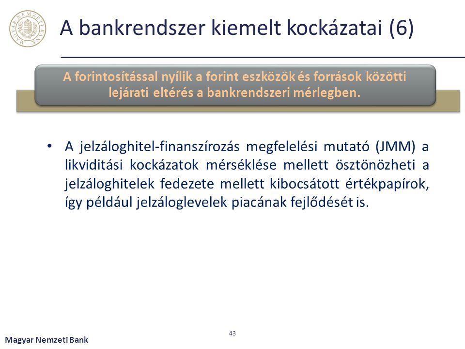 A bankrendszer kiemelt kockázatai (6)