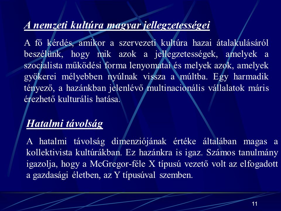 A nemzeti kultúra magyar jellegzetességei